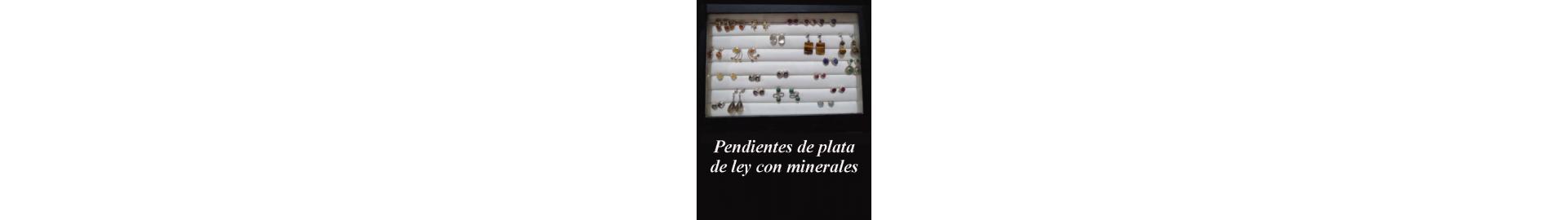 Pendientes  de plata con minerales